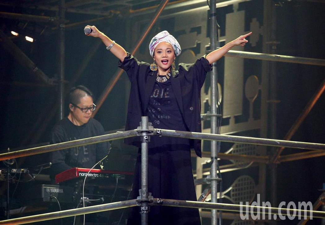 第三屆愛之日常音樂節下午在台北流行音樂中心登場,阿爆擔任開場演出。記者余承翰/攝