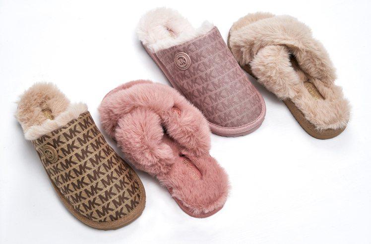 MMK絨毛鞋款,3,400~3,900元。圖/MICHAEL KORS提供