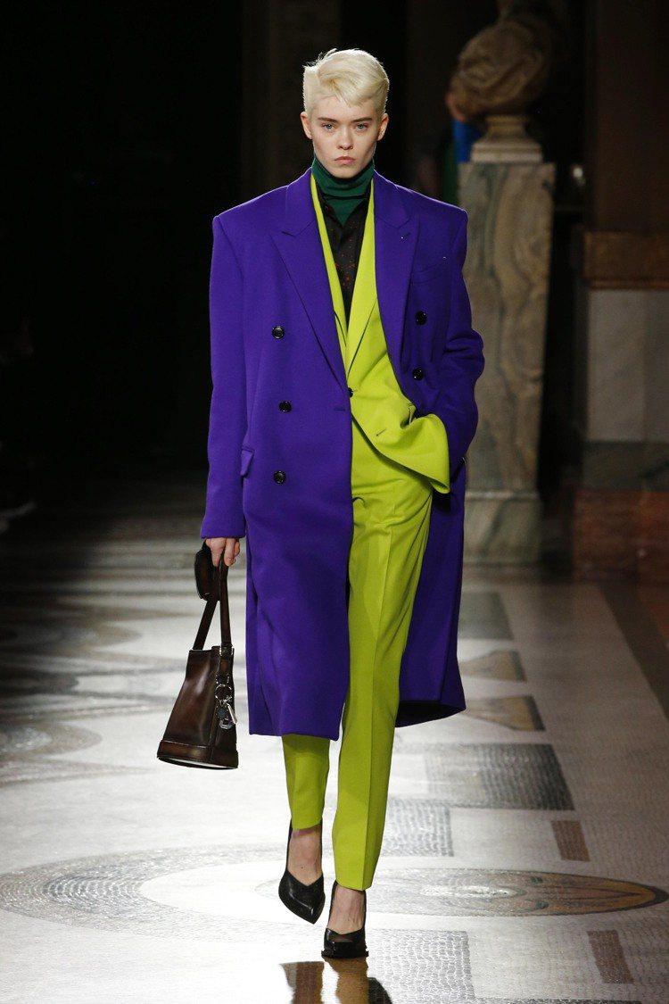 蔡依林選穿的Berluti檸檬綠西服造型。圖/Berluti提供