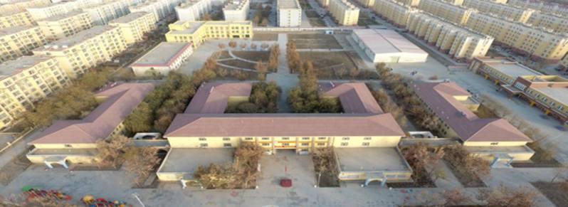 報告中所稱的拘留中心(坐標:38.8367N,77.7056E),實際上是新疆喀什地區麥蓋提縣敬老院。圖擷自新浪新聞