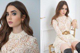 《艾蜜莉在巴黎》莉莉柯林斯美穿蕾絲透視裝又辣又仙!靠3招維持纖細好體態