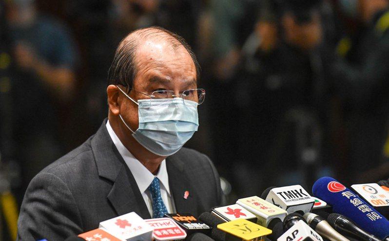 香港政務司長張建宗。 香港中國通訊社