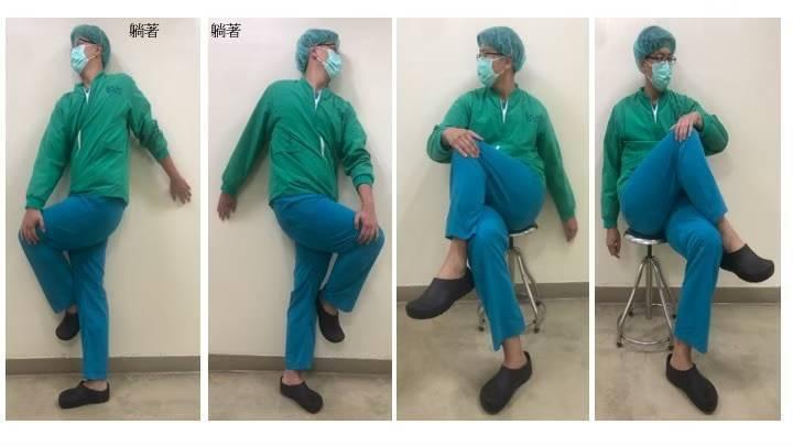 黃鼎鈞建議可透過伸展髂脛束的方式,來預防惡化,可以躺著坐,也可以坐著做,將膝蓋往...