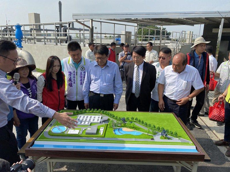 甘棠水質淨化場今天完工。圖/環保署提供