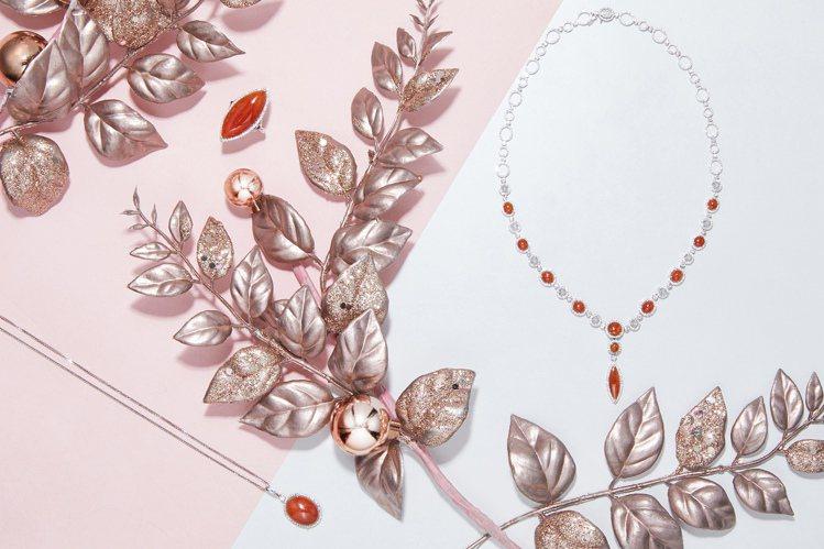 玉世家以紅白翡珠寶迎接冬日。圖/玉世家提供
