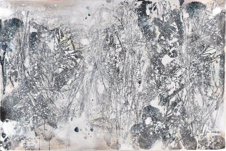 朱德群「白色森林之一」,估價3500萬港元起。圖/佳士得提供
