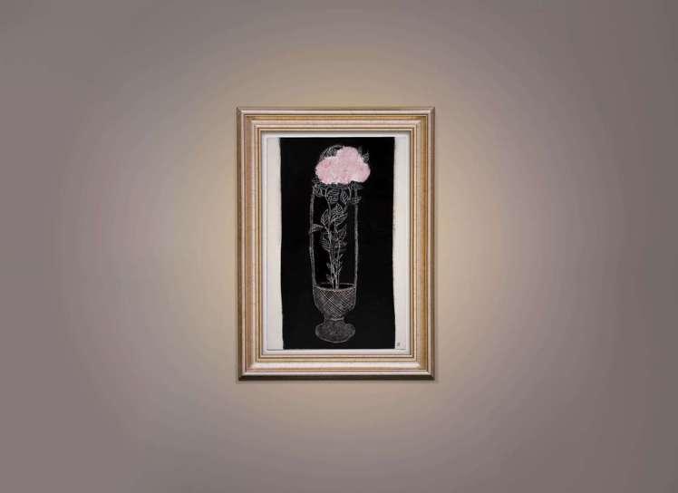 常玉「籃中粉紅菊」,估價6800萬港元起。圖/佳士得提供