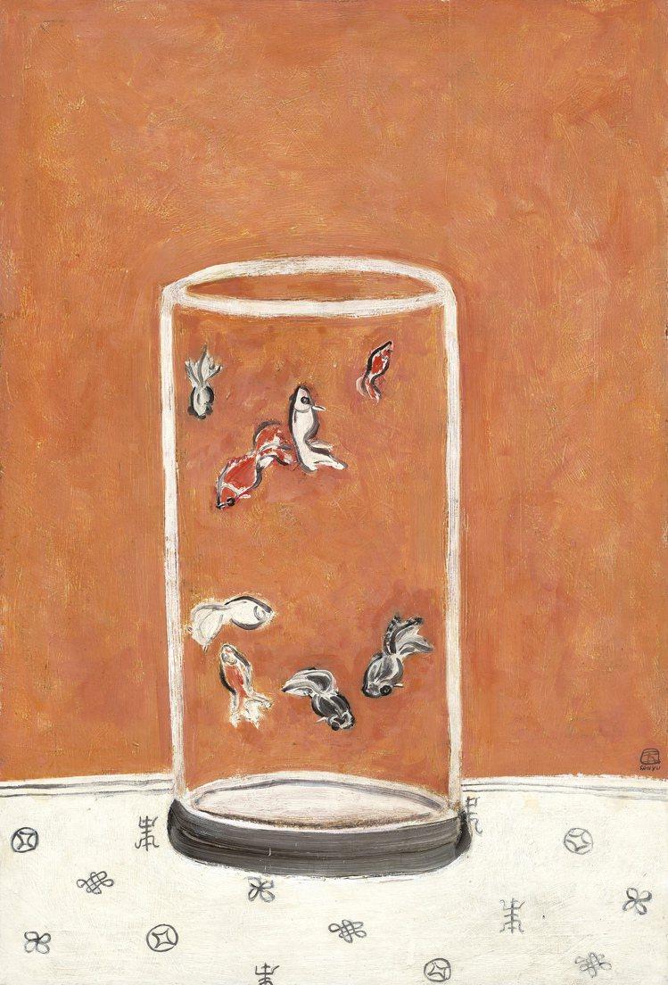 常玉「八尾金魚」,估價1億2000萬港元起。圖/佳士得提供