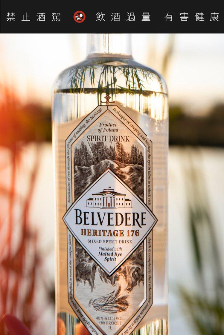 酒標上標示使用裸麥麥芽為原料。圖/摘自Belvedere Vodak臉書。提醒您...