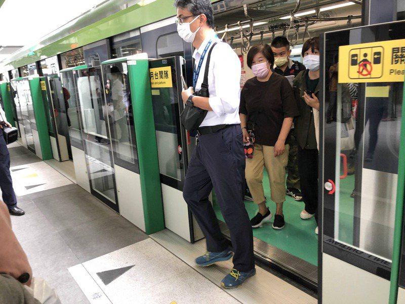台中捷運明天向外說明綠缐車隊檢測結果。記者陳秋雲/攝影