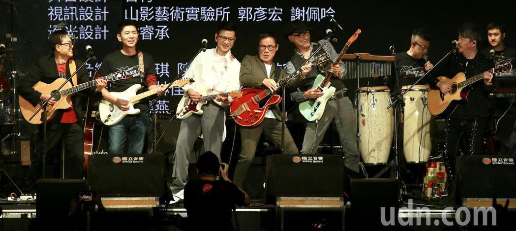 《因為愛琴演唱會》下午在華山1914文創園區Legacy開場,多位歌手一同演唱。