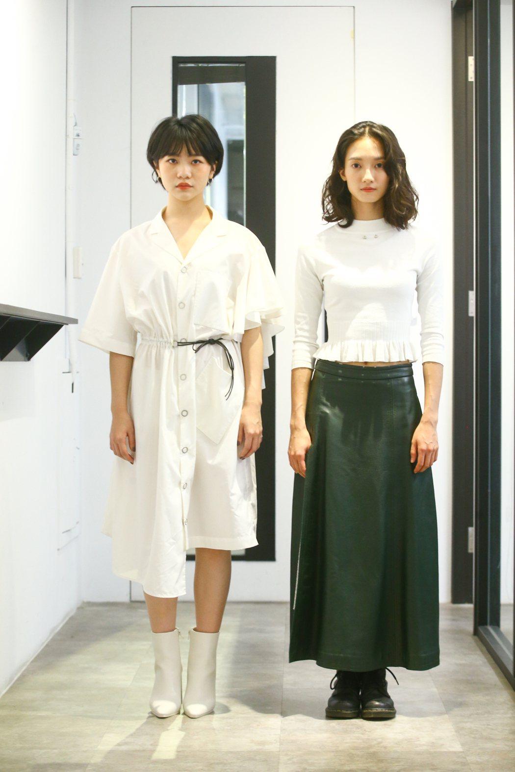 韓寧(右)、李玲葦在「返校」影集中分飾學姊、學妹。記者葉信菉/攝影