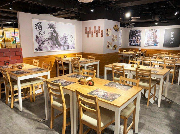 主題餐廳內,可見到各種東離劍遊紀的元素。圖/FANFAN提供