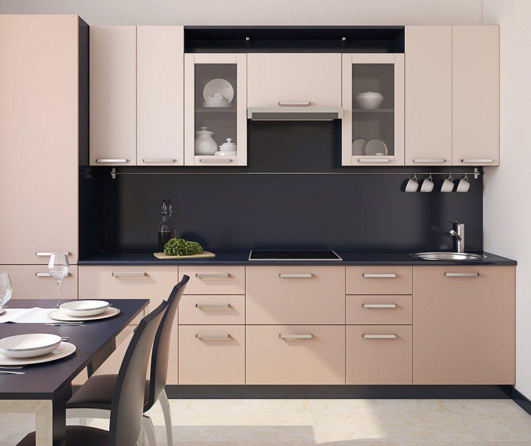 一字型廚房擁有節省空間的絕妙優點,是台灣最常見的廚房類型。 圖/21世紀不動產 ...