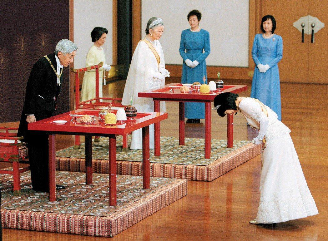 2004年明仁天皇的長女清子公主嫁給東京都政府職員黑田慶樹後脫離皇籍,得到的一時...
