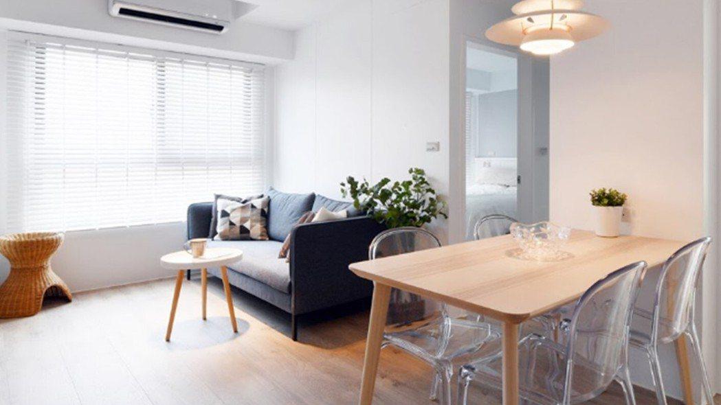 Phyllis的客廳因為零雜物,簡潔明亮,連打掃時間都變少。