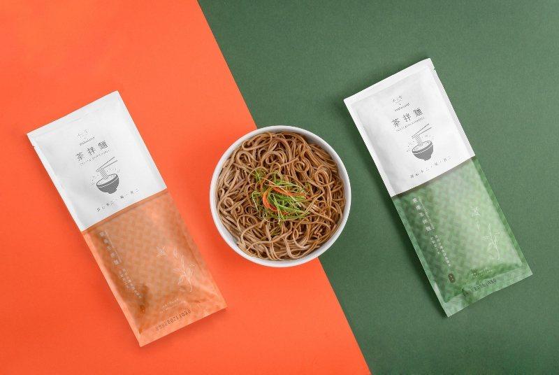 不二堂的茶拌麵為直麵,有兩種口味「椒麻」與「蔥燒」。 業者/提供