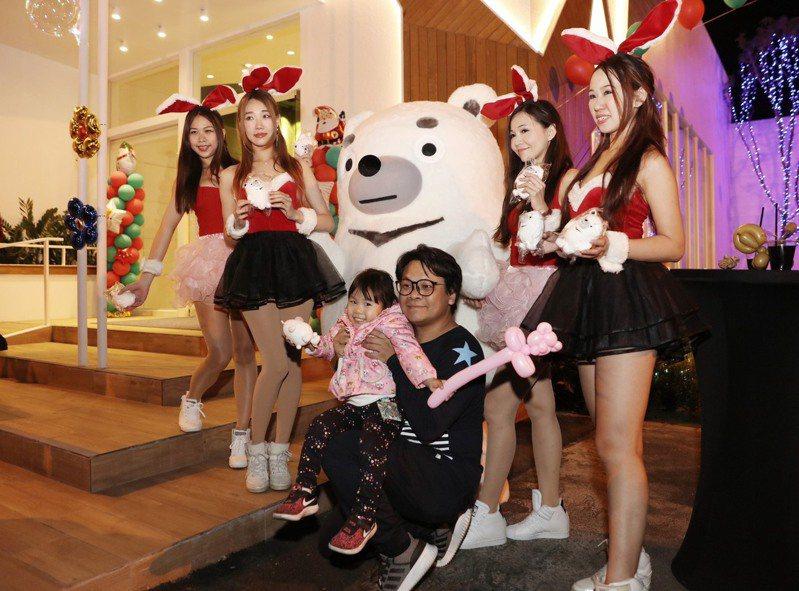華友聯事業體多元,集團吉祥物Hito熊一身雪白,呼應傳遞幸福感的企業理念。圖/華友聯提供