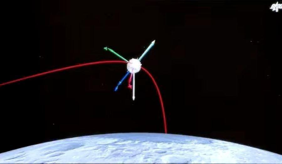 大陸「嫦娥五號」探測器組合體30日順利分離。(圖/取自觀察者網)