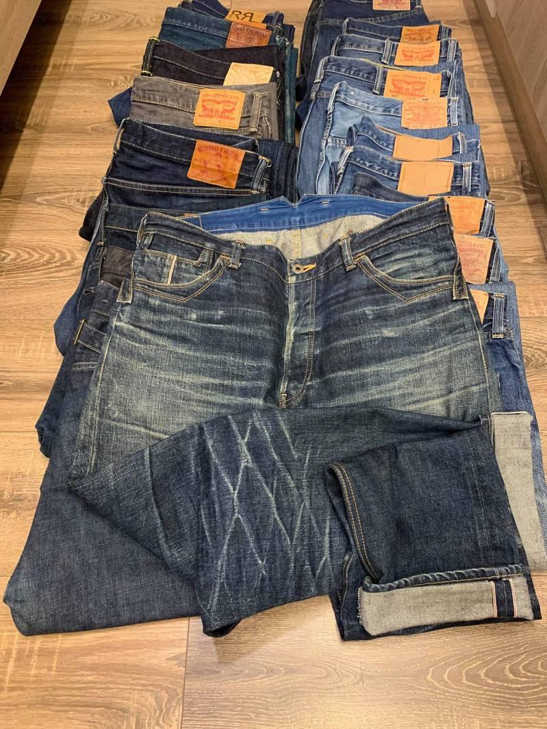 田姓工程師說,牛仔褲想養出好色落,版型最好要合身甚至緊身,加上微濕定型與大量的勞動。圖/田姓工程師提供