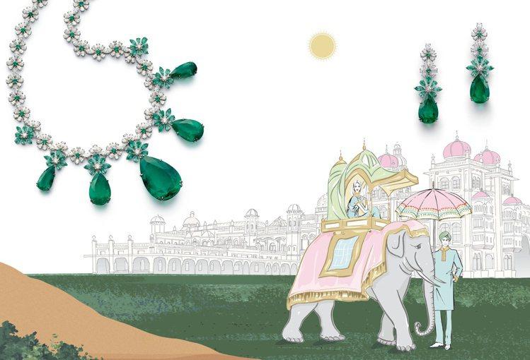蕭邦發表以大自然為主題的2020紅地毯系列高級珠寶。圖/蕭邦提供