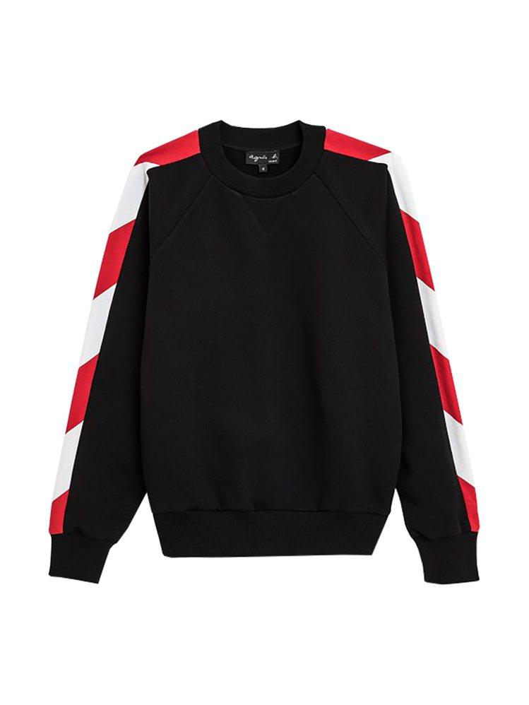 danger stripe圓領棉衫,7,280元。圖/agnès b.提供