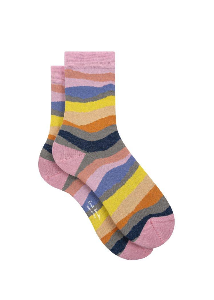彩條襪子,1,300元。圖/Paul Smith提供