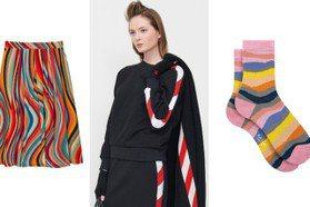 意圖讓人想吃拐杖糖、彩色棒棒糖 秋冬條紋衣可愛俏皮