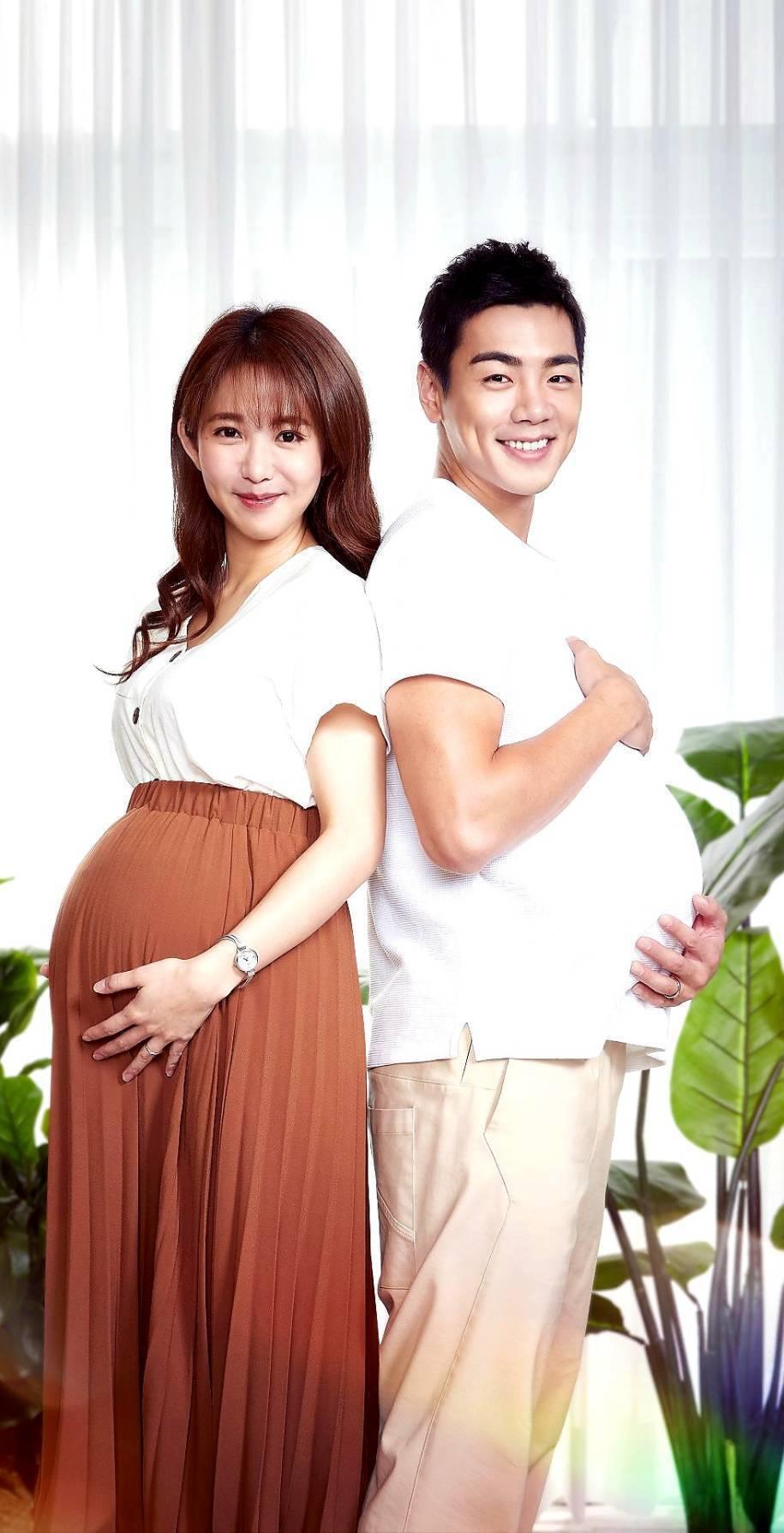 郭書瑤(左)和禾浩辰主演的「未來媽媽」收視開紅盤。圖/三立提供