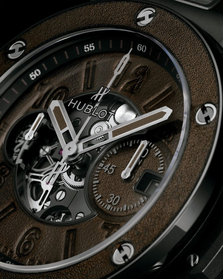 HUBLOT Big Bang Unico Berluti冰棕腕表,表圈與表盤運...