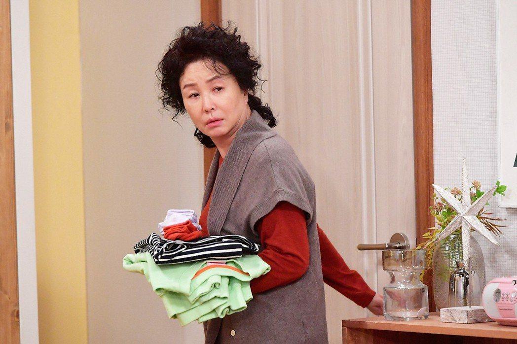 金美淑在「愛情是Beautiful人生是Wonderful」飾演媽媽。圖/八大電...