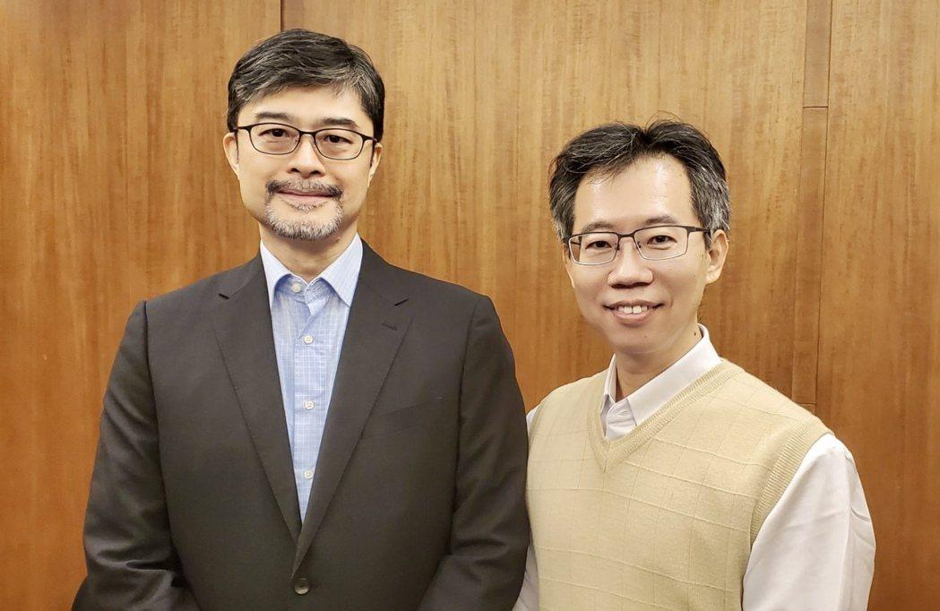 台灣精銳將於12月1日登錄興櫃,圖為總經理郭崇哲(左)、發言人林芳榮。台灣精銳/...