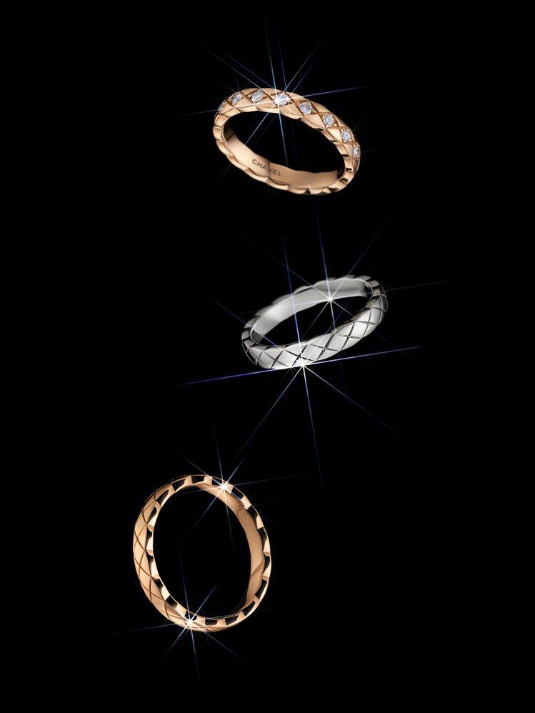 COCO CRUSH戒指窄版款,備有多種不同金質與鑲鑽無鑽款式可選,44,000...