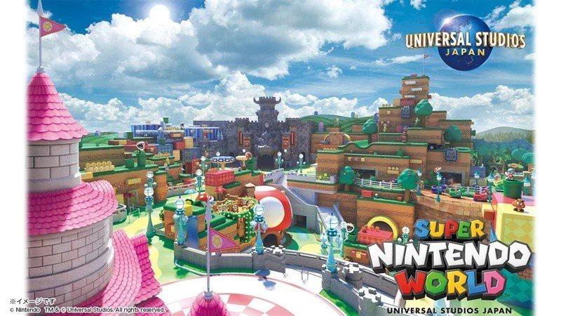 超級任天堂世界將於明年2月4日正式開幕。圖/擷取自 Universal Studios Japan (USJ) FB官方粉絲團