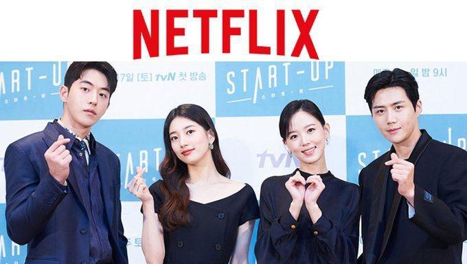 隨著疫情促使人們待在家追劇,韓劇已靠著Netflix在全球帶起韓流,最新韓劇「Start-Up:我的新創時代」目前名列Netflix全球十大熱門節目之一。圖片取自Netflix