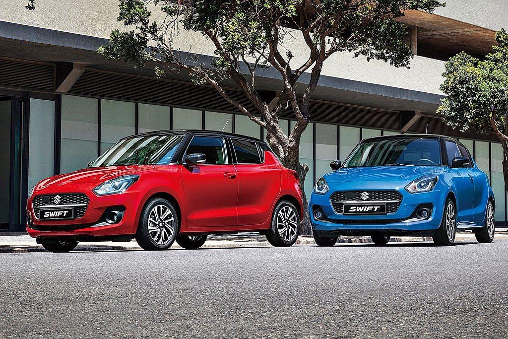 小改款Suzuki Swift台灣市場即刻展開預訂作業。(本圖片僅供參考,如與實...