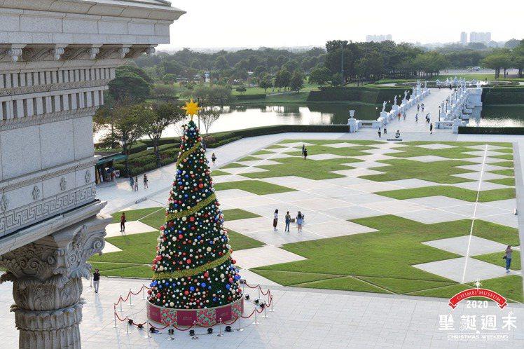 奇美博物館戶外廣場屆時將有一連串耶誕活動,包括市集、電影院等炒熱氣氛。 圖/奇美...