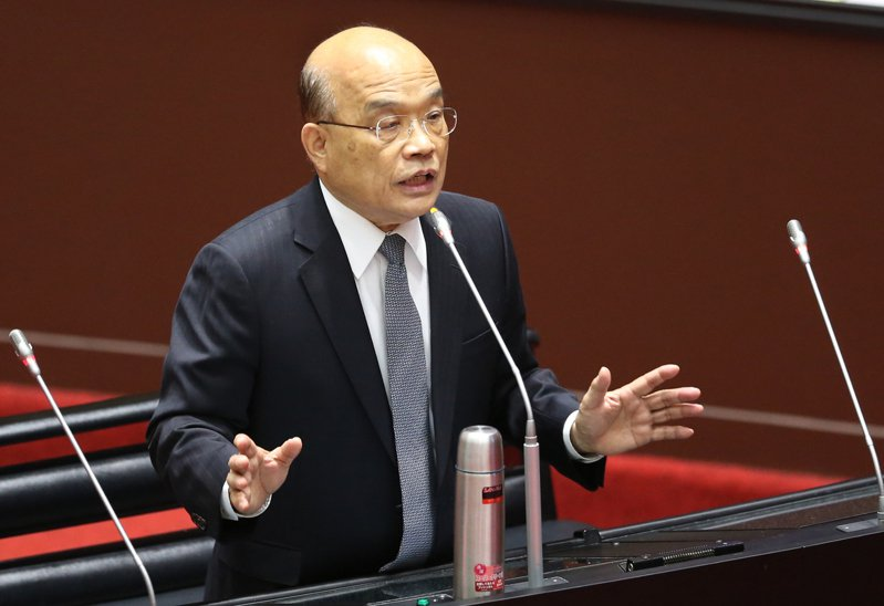 行政院長蘇貞昌(圖)到立法院接受施政總質詢。記者曾學仁/攝影