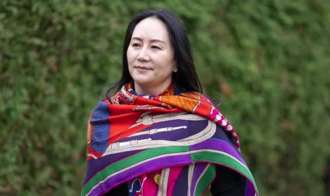 華為集團財務長、「華為公主」孟晚舟被加拿大拘留整整兩年。美聯社