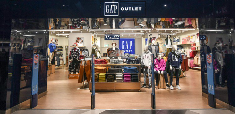 GAP全新的義大世界Outlet門市,為品牌大中華區第一間將購物空間一分為二的特...