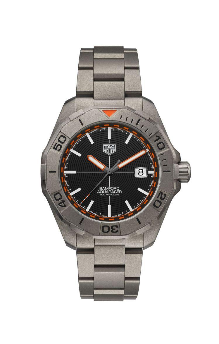 泰格豪雅Aquaracer Bamford聯名腕表,鈦金屬表殼、表鍊,限量1,5...