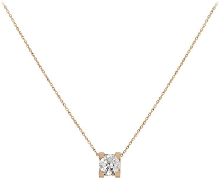 C DE CARTIER 玫瑰金鑽石項鍊,76,000元起。圖/卡地亞提供