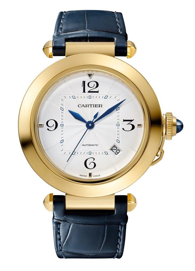Pasha de Cartier系列41毫米黃K金自動腕表,51萬5,000元。...
