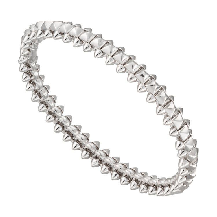 CLASH DE CARTIER系列白K金手環,28萬7,000元。圖/卡地亞提...