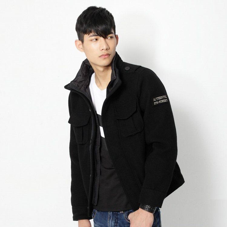 5thSTREET毛呢鋪棉長袖外套,原價3,980元、台灣樂天市場12月12日晚...