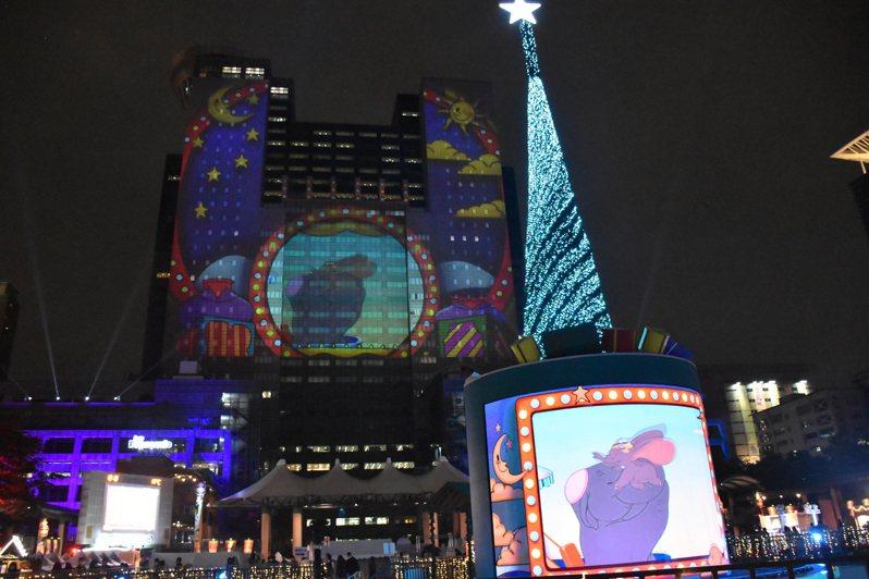 新北市觀光旅遊局今天公布第二支迪士尼3D光雕雷射投影秀「奇幻篇」。記者江婉儀/攝影