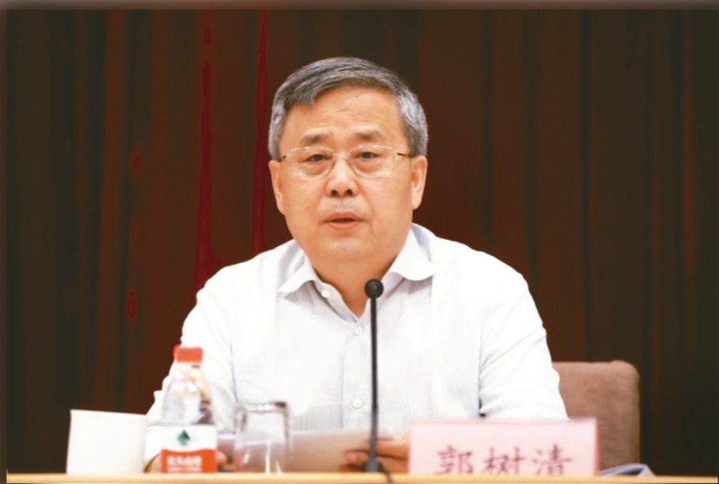 大陸銀保監會主席郭樹清  本報系資料庫