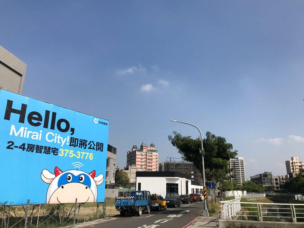 多城國際在仁武北屋北街即將進場銷售的首購首換大樓「多城市」。 攝影/張世雅