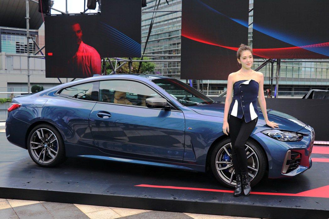 品牌大使許瑋甯帥氣現身BMW 4系列發表會。 記者陳威任/攝影