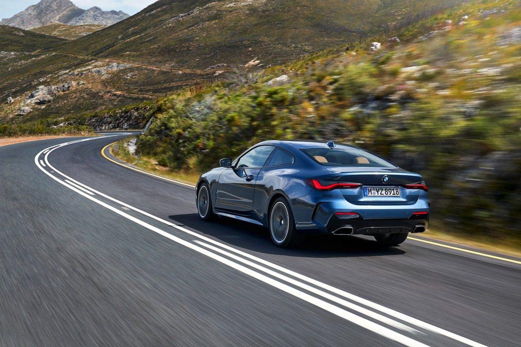 全新世代BMW 4系列雙門跑車底盤亦進行全面優化。 圖/汎德提供